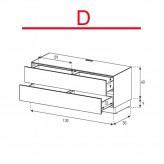 Lowboard Sonorous Elements EX10-DD-D - TV-Möbel mit 2 Schubladen / kombinierbar
