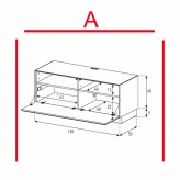 Lowboard Sonorous Elements EX10-F-A - TV-Möbel mit Klapp-Tür / kombinierbar
