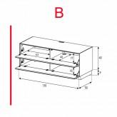 Lowboard Sonorous Elements EX10-FF-B - TV-Möbel mit 2 Klapp-Türen / kombinierbar
