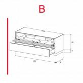 Lowboard Sonorous Elements EX10-TD-B - TV-Möbel mit stoffbezogener Klapp-Tür und Schublade / kombinierbar